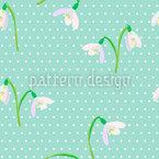 Polkadot Snowdrops Pattern Design