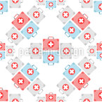 First Aid Box Seamless Vector Pattern Design