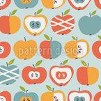 Neue Sorten Von Äpfeln Nahtloses Vektormuster