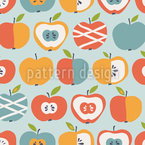 New Sorts Of Apples Seamless Vector Pattern Design
