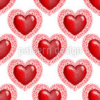 Geometric Hearts Seamless Pattern