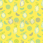 Mehr Zitronen Nahtloses Vektormuster