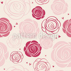 Rose Romance Seamless Vector Pattern Design