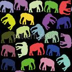 Pop-Art Elefanten Nahtloses Vektormuster