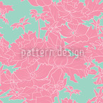Vintage Flowers Pink Seamless Vector Pattern Design