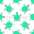 Tribal Turtles Seamless Vector Pattern Design