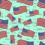 Bandeira dos EUA Design de padrão vetorial sem costura
