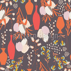 Tulips Flowers And Vases Seamless Vector Pattern Design