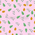 Einige Arten Von Blättern Nahtloses Vektormuster
