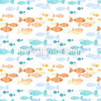 Crossing Fish Swarms Seamless Vector Pattern Design