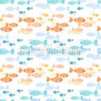 Kreuzende Fischschwärme Nahtloses Vektormuster
