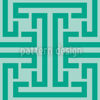 Emerald Labyrinth Seamless Vector Pattern Design