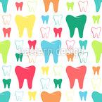 Glänzende Zähne Musterdesign