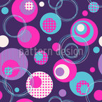 Dot And Circle Mix Seamless Vector Pattern Design