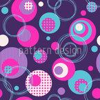 Punkt und Kreis Mix Vektor Ornament
