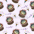 Party with Cakes Seamless Vector Pattern Design