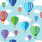 Balloon Riding Seamless Vector Pattern Design