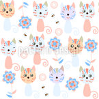 Cats And flowers Design Pattern