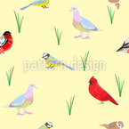 Birds Species Seamless Vector Pattern Design