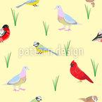 Виды птиц Бесшовный дизайн векторных узоров