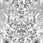 Hummingbirds Seamless Vector Pattern Design