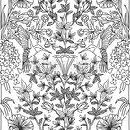 Kolibris Nahtloses Vektormuster