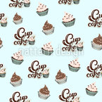 NY Cupcake Dreams Seamless Vector Pattern Design