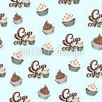 NY Cupcake Träume Nahtloses Vektormuster