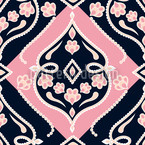 Folkloria Rose Seamless Vector Pattern Design