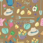 Sunny Days in My Garden Seamless Vector Pattern Design