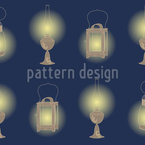 Vintage Lanterns Repeating Pattern