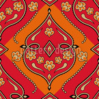 Folkloria Fire Seamless Vector Pattern Design