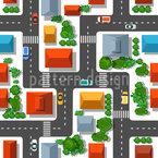 Stadtblick von Oben Nahtloses Vektormuster