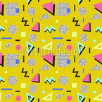 80s or 90s Seamless Vector Pattern Design