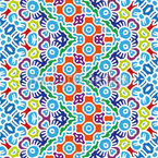 Mosaik im Zickzack Vektor Muster