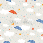 Rain Shower Seamless Vector Pattern Design