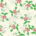 Dancing Roses Seamless Vector Pattern Design