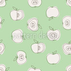 Apple For School Seamless Vector Pattern Design