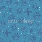Sonhos do Verão passado Design de padrão vetorial sem costura