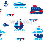 Nautical Fun Seamless Vector Pattern Design