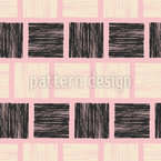 Blockprint Squares Seamless Vector Pattern Design
