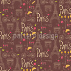 I Love Paris Seamless Vector Pattern Design