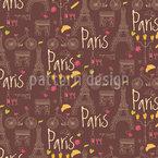 Ich Liebe Paris Nahtloses Vektormuster