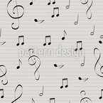 Sing A Song Seamless Vector Pattern Design
