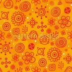 Flower Constellations Seamless Vector Pattern Design