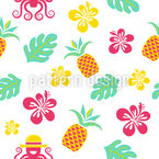 Hawaiian Dreams Seamless Vector Pattern