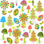 Wild Mushrooms Vector Design