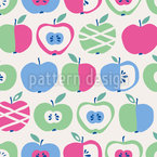 Kandierte Äpfel Nahtloses Vektormuster