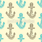Sea Anchors Vector Pattern