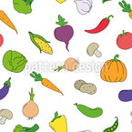 Vegetable Mix Seamless Vector Pattern Design
